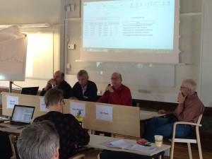 Från vänster: Nils Olof Rehnman, Simon Jonsson, Glenn Berggård och Nils Tiberg